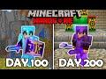 Surviving 200 Days Straight In Minecraft Hardcore