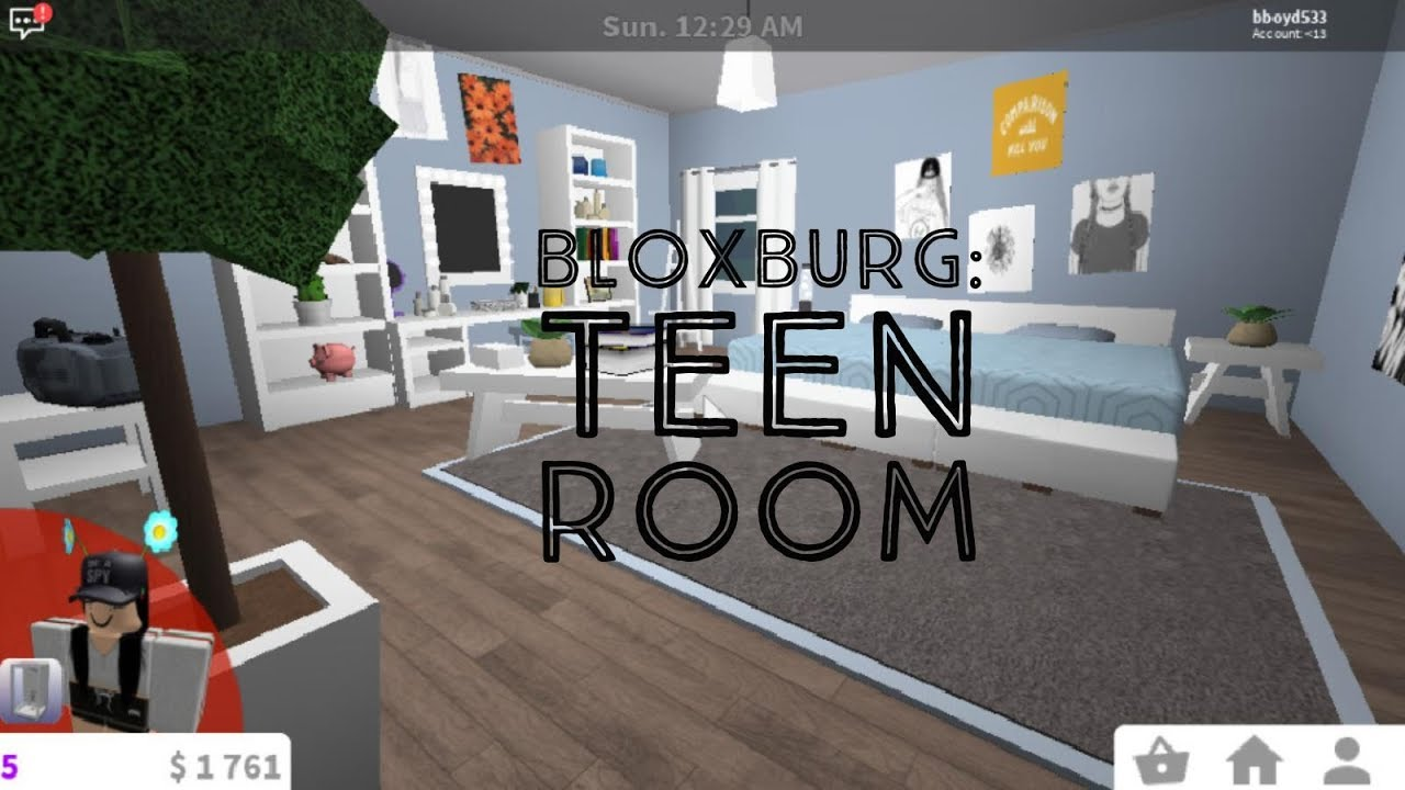 Bloxburg teen girl 39 s room youtube for Kitchen designs bloxburg