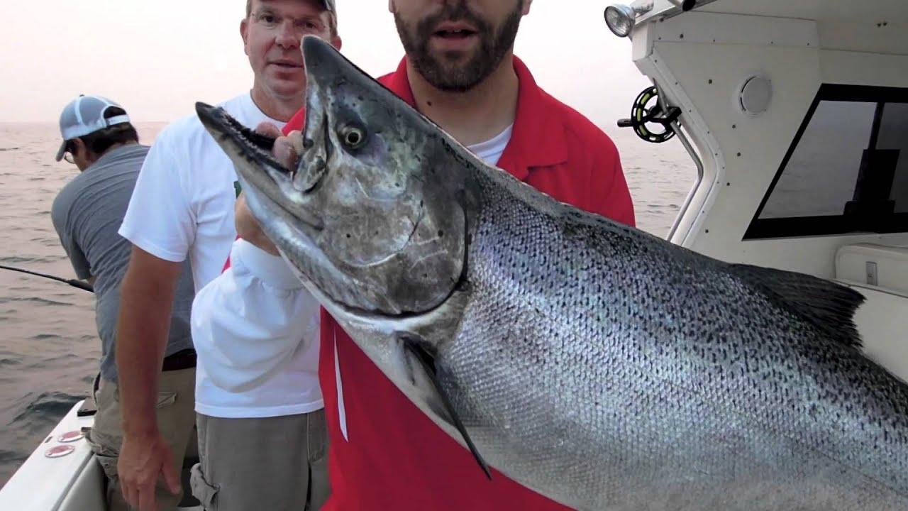 Lake ontario salmon fishing july 2011 youtube for Lake ontario salmon fishing report