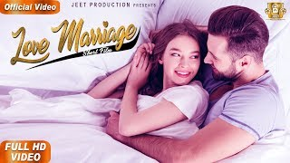 LOVE MARRIAGE - FULL MOVIE | New Punjabi Movies 2019 | Happy Jeet Pencher Wala