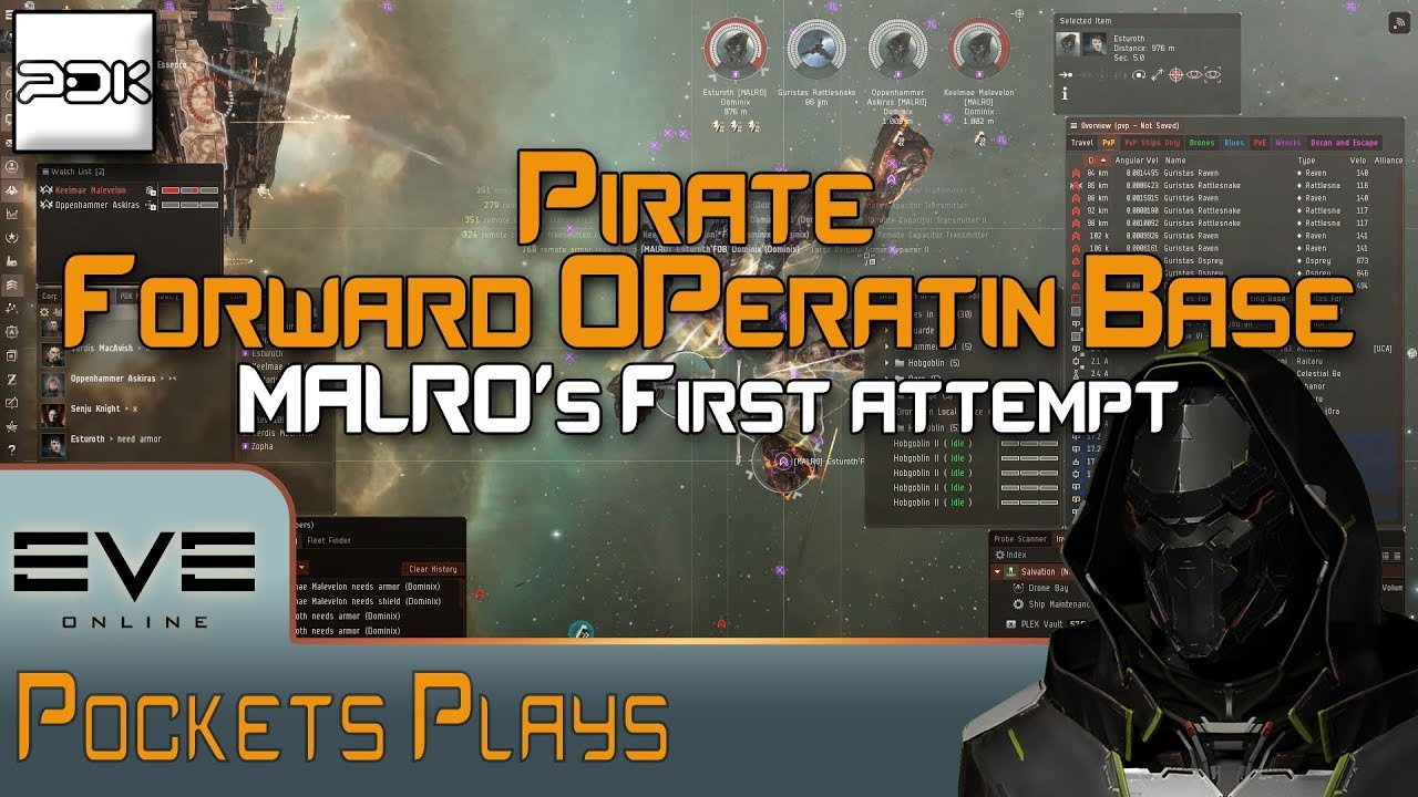 EVE Online: MALRO's first Pirate FOB fleet!