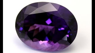 #1 Faceting of a 48 carat Shaver Lake Amethyst