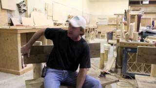 Log Furniture Series - Reclaimed Wood Log Benches, Walnut Log Desk