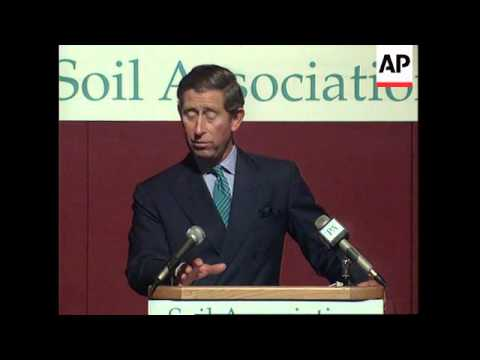 UK: PRINCE CHARLES SPEECH ATTACKS INDUSTRIAL FARMING TECHNIQUES