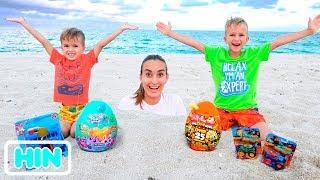 व्लाद और मम्मी समुद्र और अन्य मज़ेदार वीडियो संग्रह में आराम करते हैं