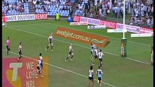 Michael Gordon Awesome Try Cronulla Sharks Vs Penrith Panthers