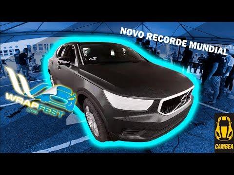 ENVELOPAMOS UM CARRO EM MENOS DE 20 MIN. | NOVO RECORDE MUNDIAL