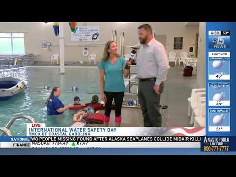 Amanda Live at water safety classes at YMCA