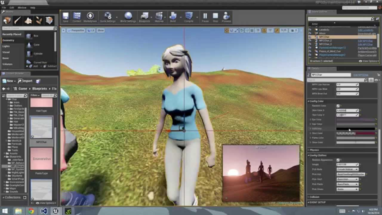 Character Design Unreal Engine 4 : Unreal engine character customization youtube