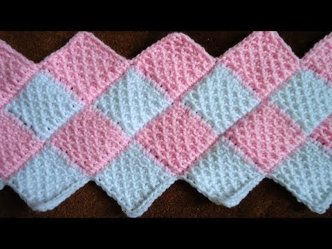 Crochet Tunecino : Union Diagonal - YouTube