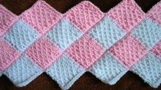 Repeat youtube video Crochet Tunecino : Union Diagonal