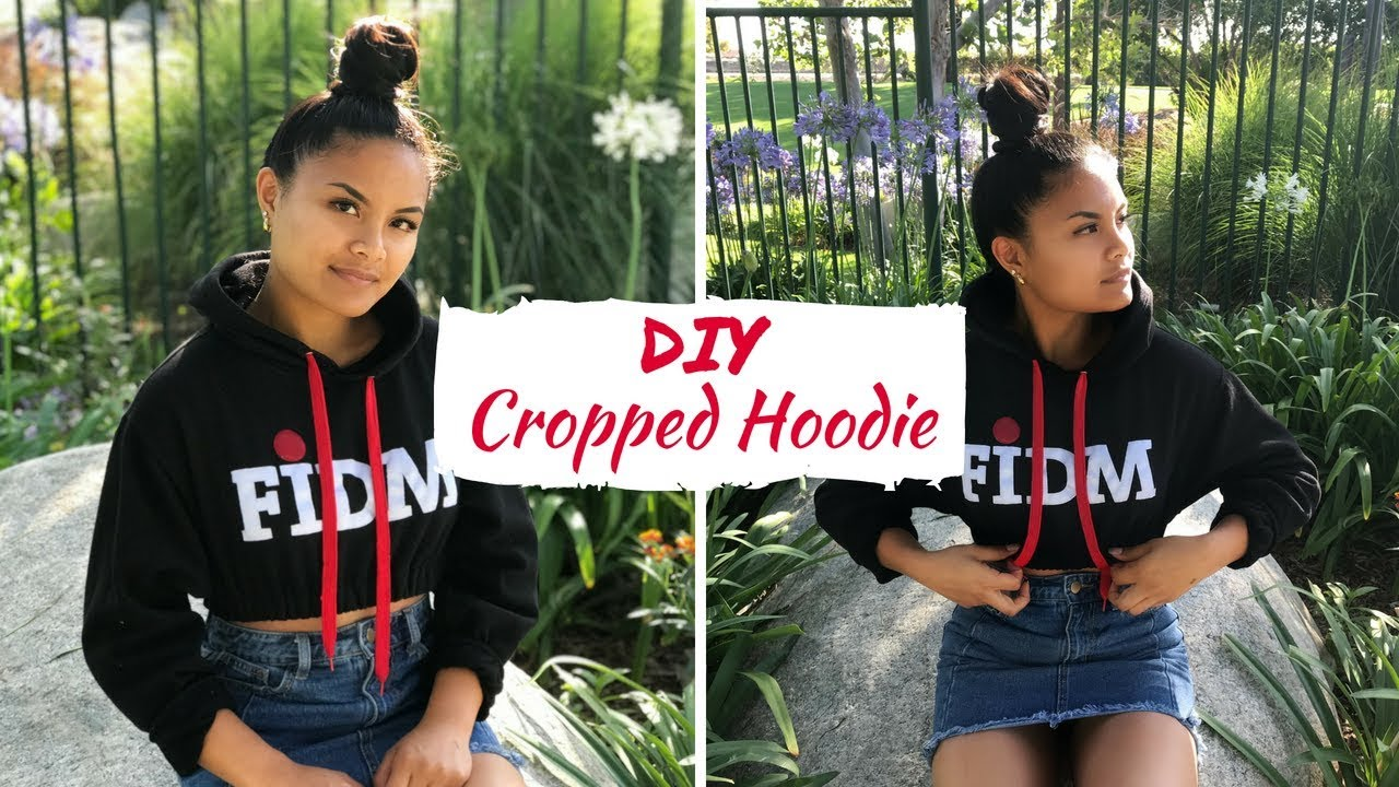 Diy Cropped Hoodie Fashionclub Com Fidm Fashion Club
