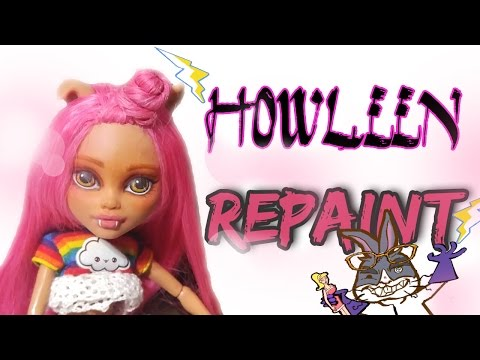 Monster High Howleen Wolf Repaint | Mad Scientist Doll Customs Episode 8