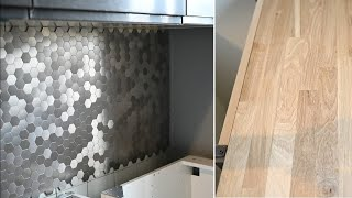 Мозаика на кухонном фартуке/ ремонт кухни своими руками #3 видео