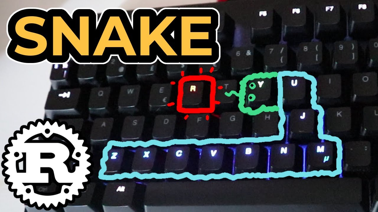 Snake But I Made It For Keyboard Using RUST