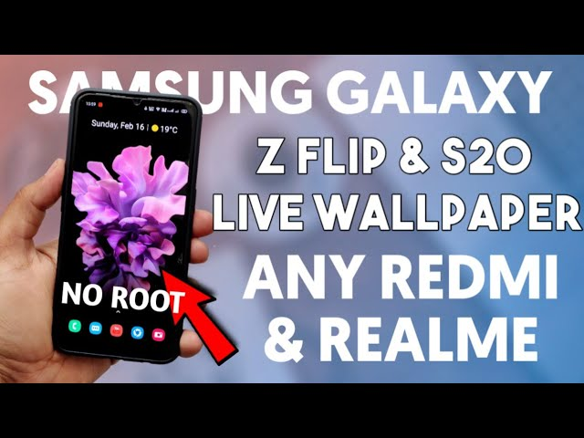 Download Samsung Galaxy Z Flip Live Wallpaper Any Android Device No Root Miui 11 Working Youtube