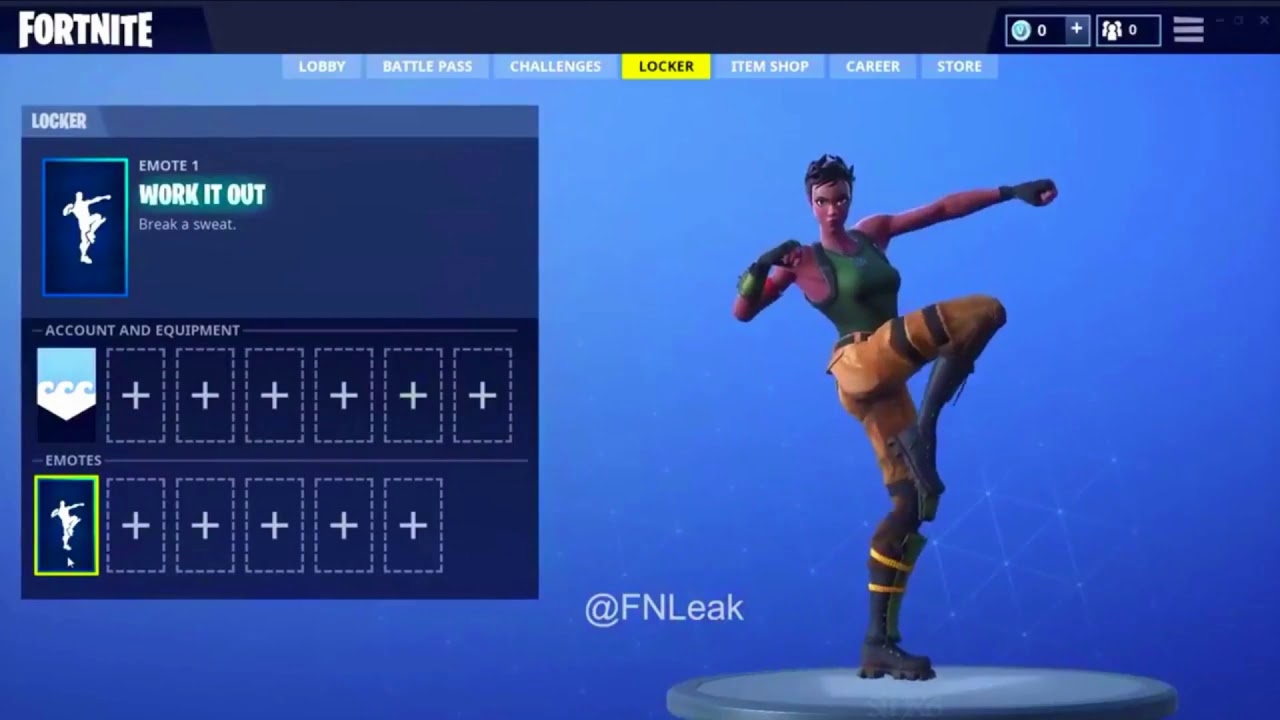 Work It Out 1 Hour Emote Fortnite Dance Youtube