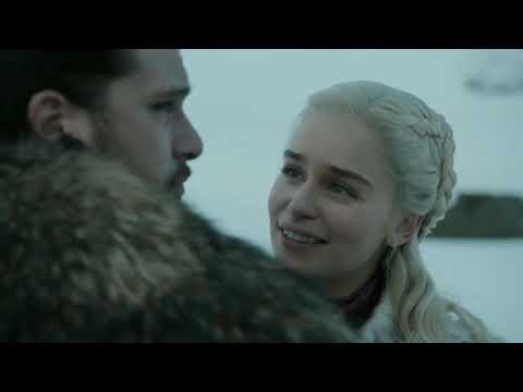 Game Of Thrones L Season 8 L Episode 1 - Jon Snow Ride A Dragon [SUB INDO]