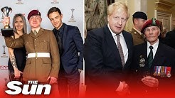 Millies 2020: Boris Johnson and celebrity presenters talk to the winners at the Sun Military Awards