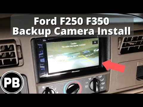 1998 - 2004 Ford F-250 / F-350 Backup Reverse Camera Install - YouTube