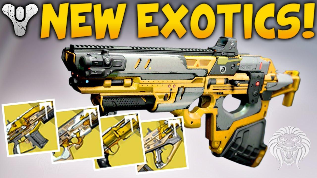 destiny: new exotic raid weapons! elemental primaries from vault