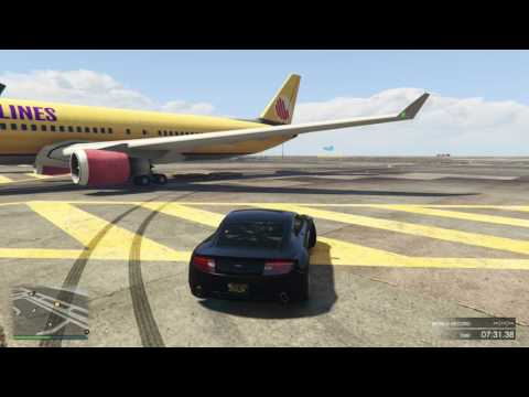 GTA 5 Drifting | Airport Drifting Freestyle & Practice