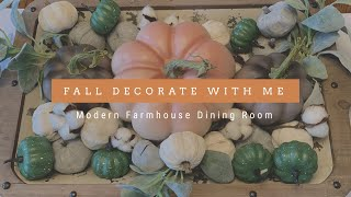 🍁🍁FALL DECORATE WITH ME 2019 🍁🍁| FARMHOUSE FALL DINING ROOM DECOR