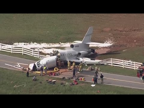 AERIAL VIDEO: Plane crash in Greenville, South Carolina