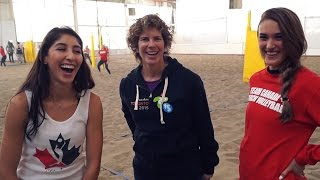 Beach Volleyball dynamic duo talk TO2015 with Olympian Marnie McBean