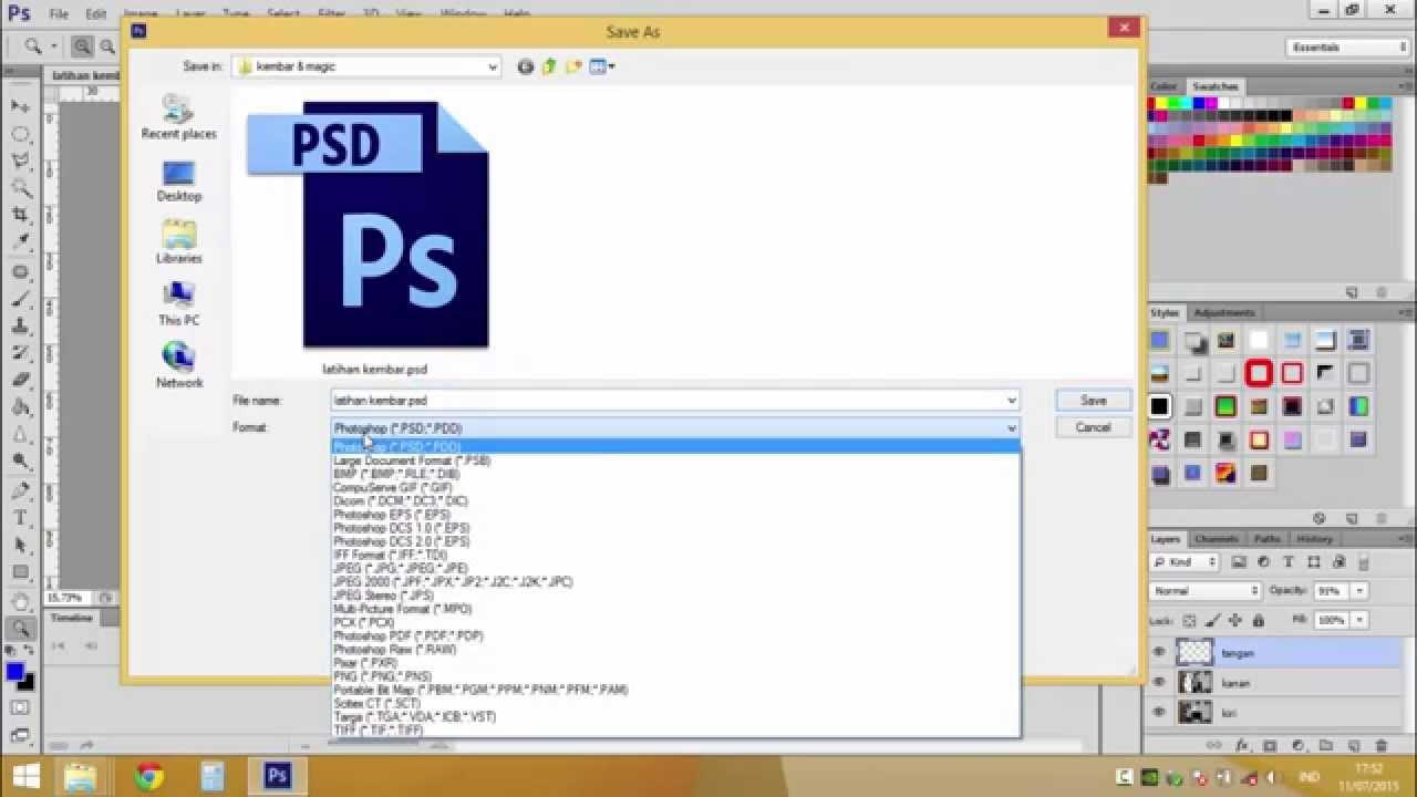 Photoshop Menyimpan Dokumen Dan Ekspor Ke Jpeg Youtube
