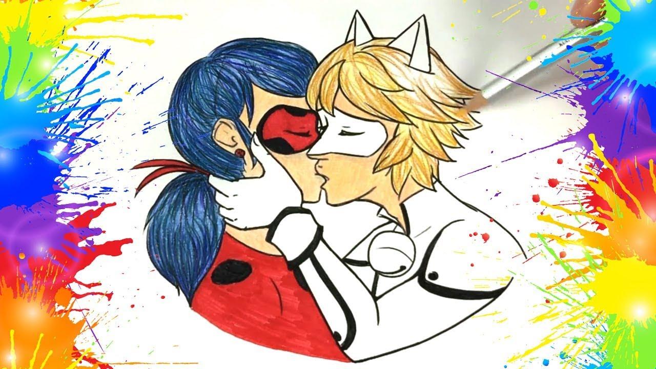 Como Pintar Beso De Ladybug Y Cat Noir