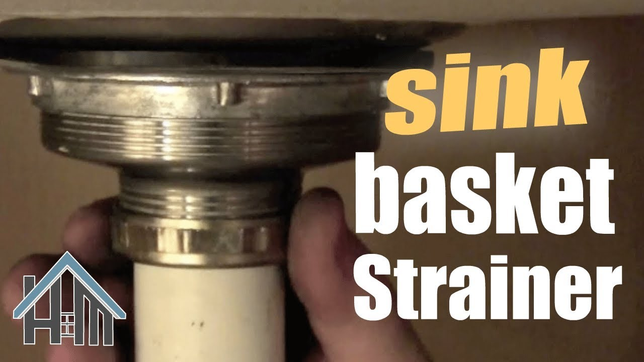 How To Replace Basket Strainer Kitchen Sink Drain Easy Home Mender Youtube