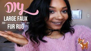 D Y Large Faux Fur Area Rug