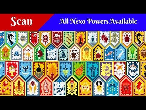 Lego Nexo Powers shields scan/сканирование щитов Нексо  сил