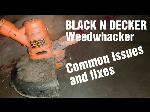 String Trimmer Repair Replacing The Spring Black Decker Part 90566944 Youtube