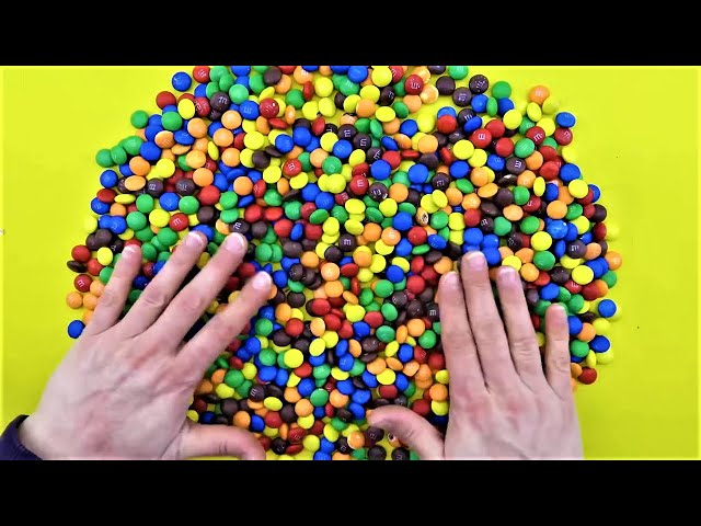 Learn To Count 0 to 9 Numbers with M&Ms Candy Skittles for Kids! Teaching for Children