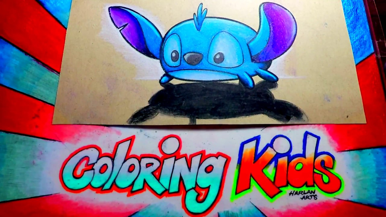 Coloring pages tsum tsum - How To Color Disney Tsum Tsum Coloring Pages For Kids Learn With Lilo Stitch