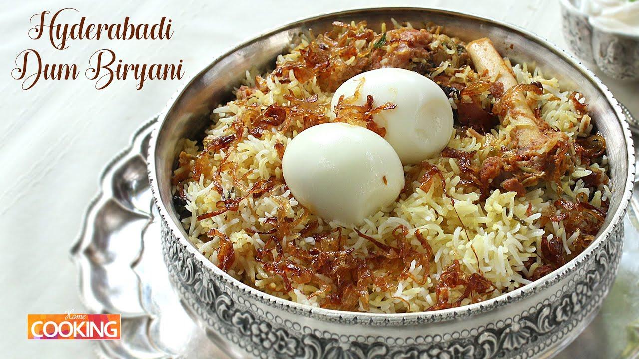 Hyderabadi Mutton Dum Biryani L How To Make Mutton Dum Biryani At