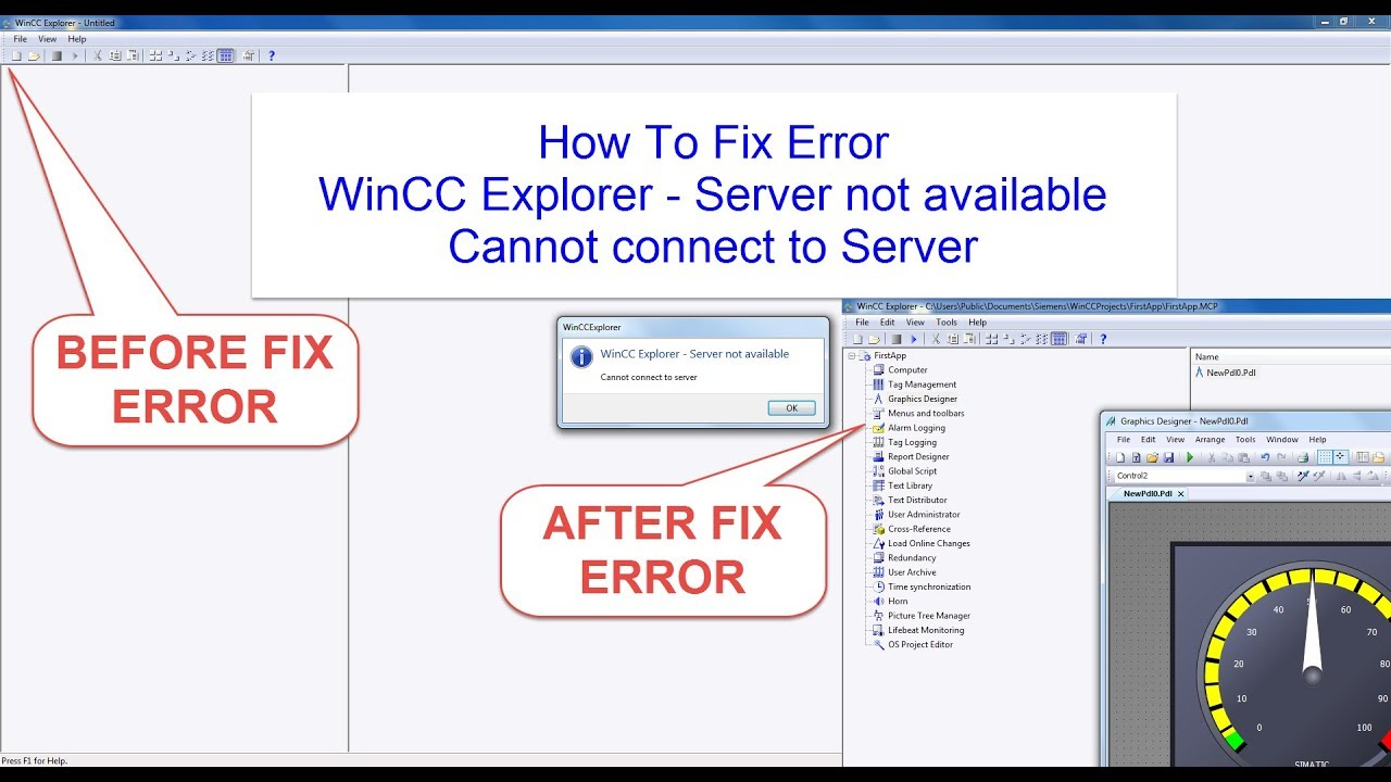 How To Fix Error: WinCC Explorer - Server not available