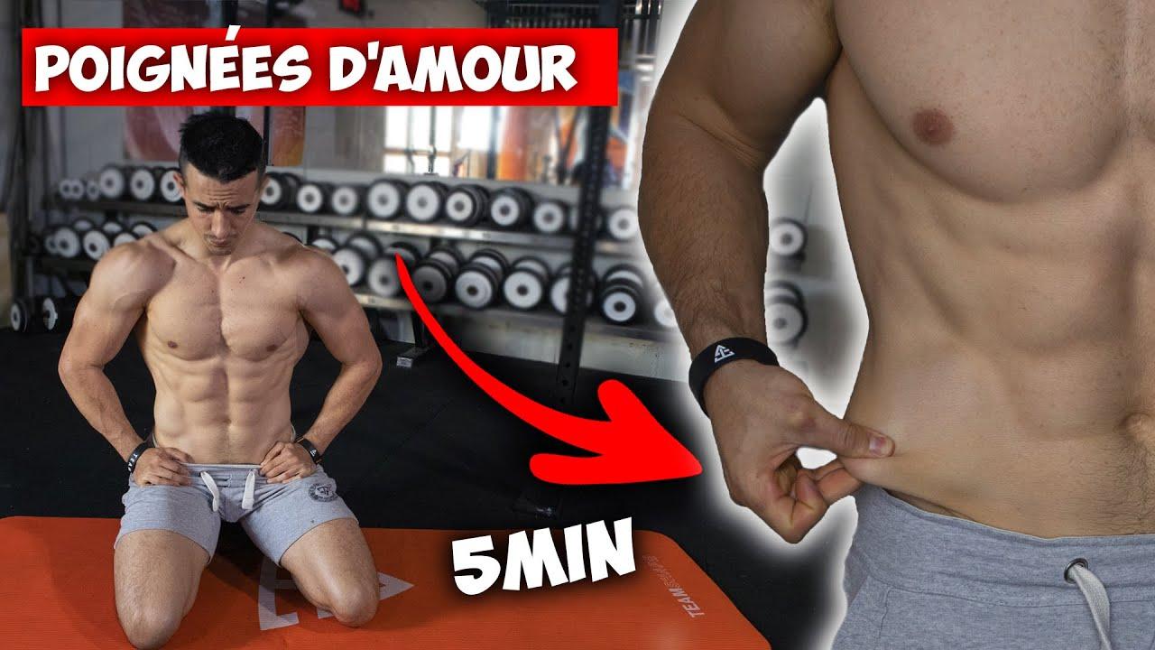 5min Exercice Perdre Poignees D Amour Et Gras Du Ventre A La Maison Youtube