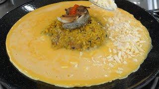 egg cheese fried rice - korean street food