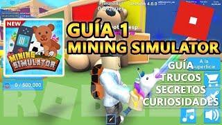 Mining Simulator, Unicorn and Renaissance 3, Cheats and Secrets, Roblox Spanish Tutorial Guide 1