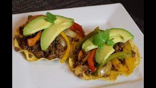 Receta Fajitas con Carne Molida, super facil y rapido