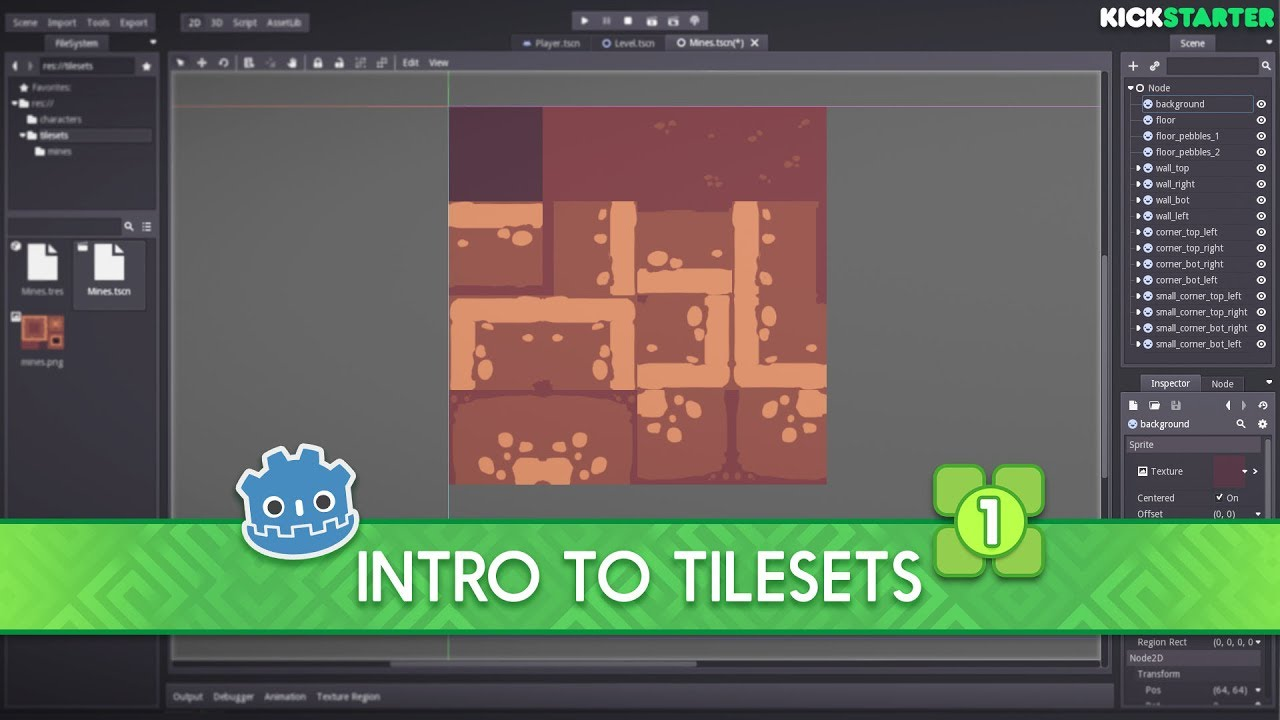 Introduction to tilesets in the Godot Engine