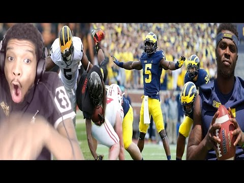 THE GREATEST COLLEGE FOOTBALL EVER!!! JABRILL PEPPERS FIRST HALF 2016 HIGHLIGHTS REACTION!