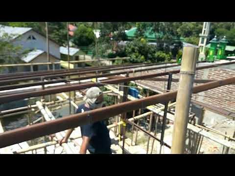 Pemasangan atap seng spandek dan rangka besi kanal C