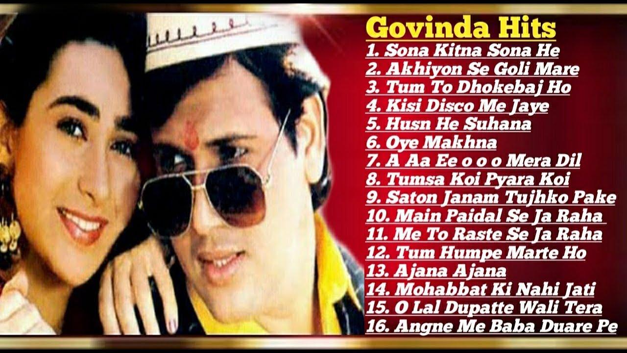 Download Govinda 💞 Karishma Kapoor  90's Block Buster Romantic💖💘hit Songs Collection   Govinda Hit Songs Mp3