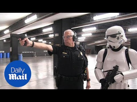 Watch this Stormtrooper try joining the Fort Worth Police force - Daily Mail