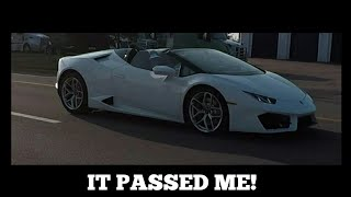 I WAS PASSED BY A LAMBORGHINI HURACAN SPYDER! (toyota supra, 2007 WRX, and a lot more!) CTCS