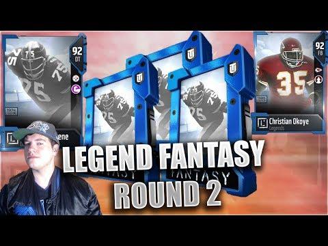 LEGEND FANTASY PACKS! BIG TIME LEGEND PULLS! OKOYE AND MEAN JOE GREENE - Madden Ultimate Team 18